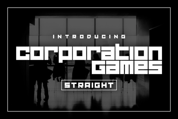 Print on Demand: Corporation Games Straight Display Font By Chequered Ink