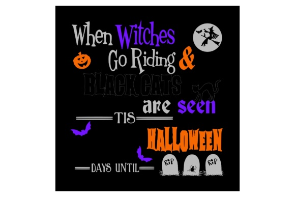 Download Free Countdown To Halloween Graphic By Studio 26 Design Co Creative for Cricut Explore, Silhouette and other cutting machines.