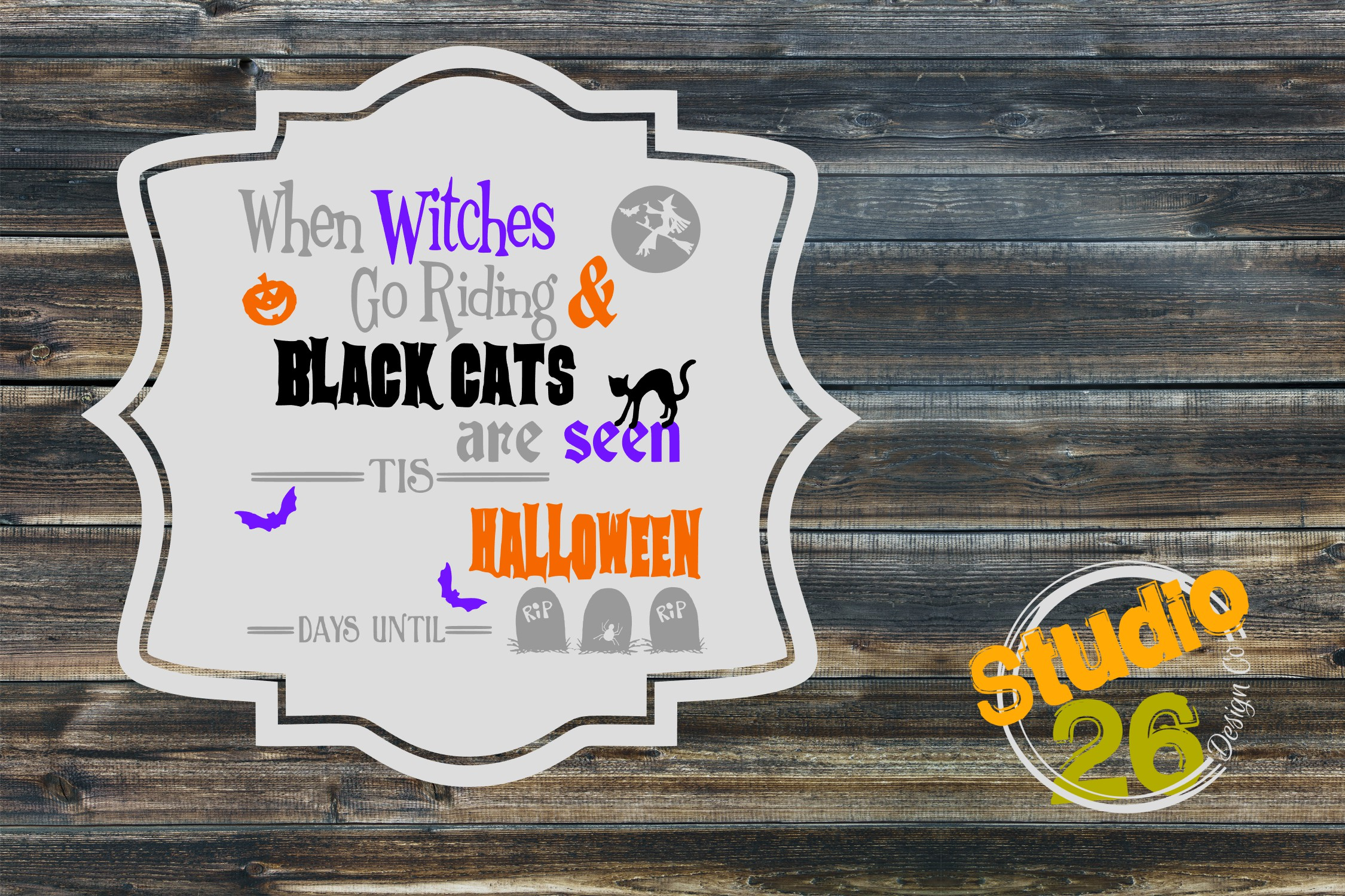 Download Free Countdown To Halloween Graphic By Studio 26 Design Co Creative SVG Cut Files