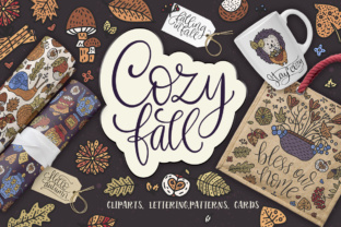 The Cozy Fall - Big Design Collection Graphic By Red Ink