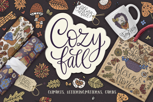 Print on Demand: The Cozy Fall - Big Design Collection Graphic Illustrations By Red Ink