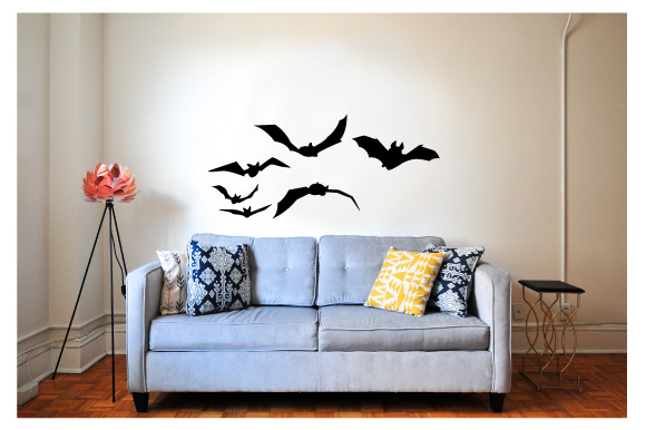 Creepy Wall Cutout - Bats Flying Halloween Craft Cut File By Creative Fabrica Crafts