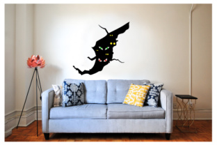Creepy Wall Cutout - Crack with Eyes Halloween Craft Cut File By Creative Fabrica Crafts