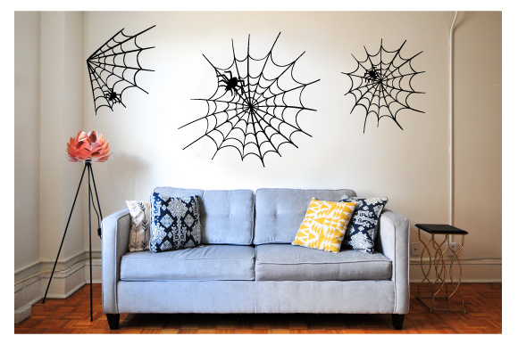 Creepy Wall Cutout - Spiderweb with Spiders Craft Design By Creative Fabrica Crafts Image 1