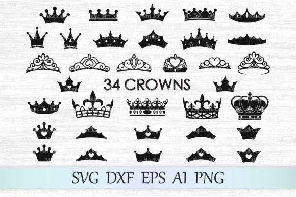 Crowns Graphic Crafts By MagicArtLab