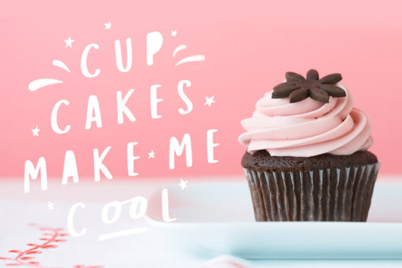 Download Free Cup Cakes Font By Amtypes Creative Fabrica for Cricut Explore, Silhouette and other cutting machines.