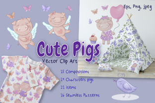 Cute Pigs Graphic By nicjulia