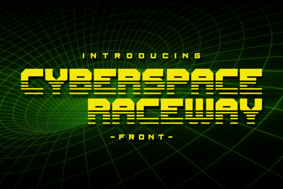 Print on Demand: Cyberspace Raceway Display Font By Chequered Ink