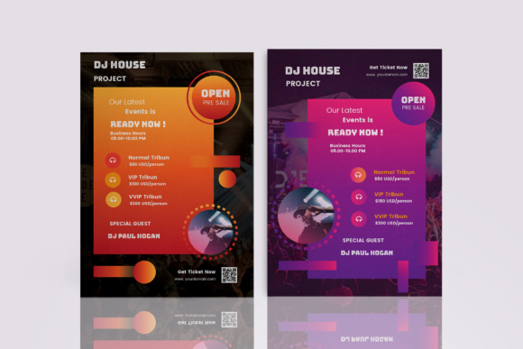 DJ Music Flyer Graphic Print Templates By TMint