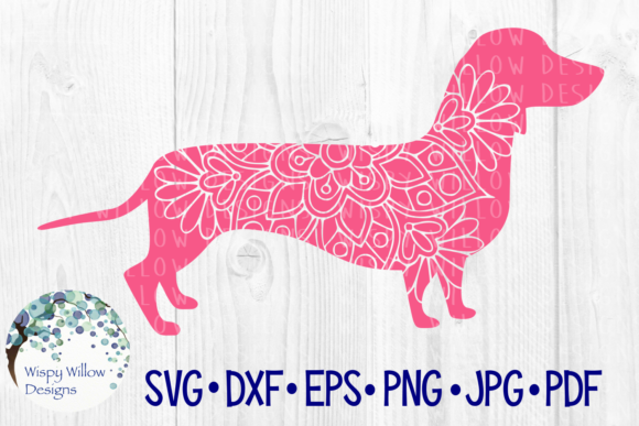 Download Free Dachshund Mandala Graphic By Wispywillowdesigns Creative Fabrica for Cricut Explore, Silhouette and other cutting machines.