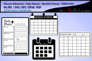 Print on Demand: Daily Planner Bundle Graphic Crafts By Arcs Multidesigns