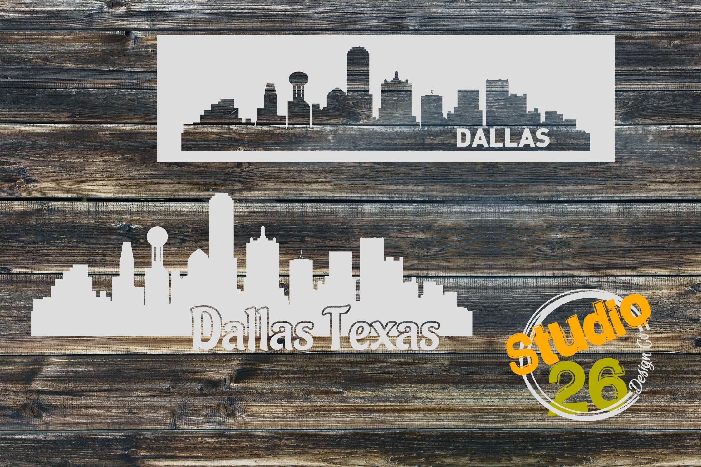 Download Free Dallas Skyline Graphic By Studio 26 Design Co Creative Fabrica for Cricut Explore, Silhouette and other cutting machines.
