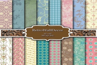 Damask Digital Papers Graphic By retrowalldecor