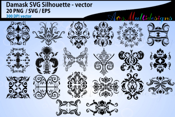 Print on Demand: Damask Vectors Graphic Crafts By Arcs Multidesigns