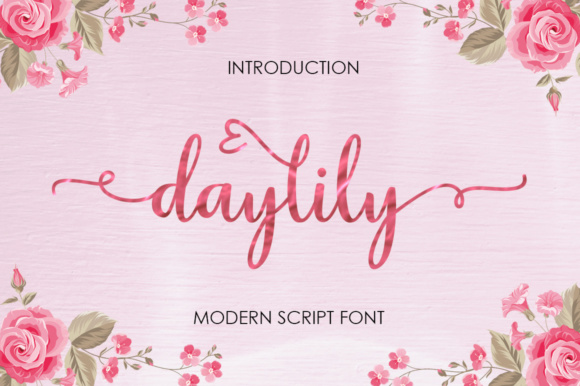 Print on Demand: Daylily Script Script & Handwritten Font By Posts Type