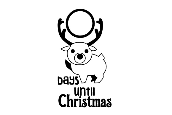 Download Free Days Until Christmas Reindeer Svg Cut File By Creative Fabrica for Cricut Explore, Silhouette and other cutting machines.