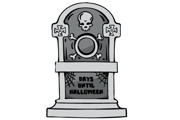 Download Free Days Until Halloween Tombstone Svg Cut File By Creative for Cricut Explore, Silhouette and other cutting machines.