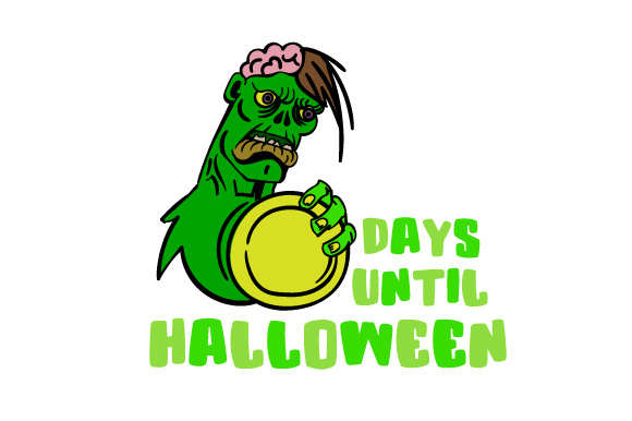 Download Free Days Until Halloween Zombie Svg Cut File By Creative Fabrica for Cricut Explore, Silhouette and other cutting machines.