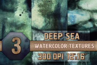 Download Free Deep Sea Watercolor Textures Graphic By Waterflowart Creative for Cricut Explore, Silhouette and other cutting machines.