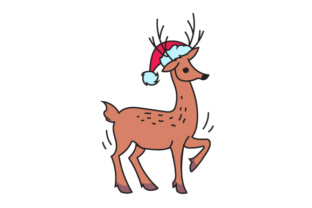 Deer with Hat Christmas Craft Cut File By Creative Fabrica Crafts