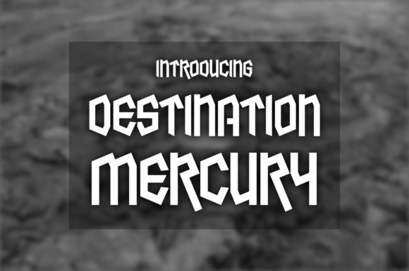 Print on Demand: Destination Mercury Display Font By Chequered Ink