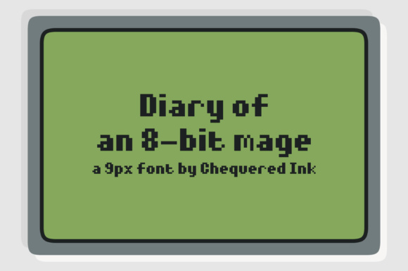 Print on Demand: Diary of an 8-bit Mage Display Font By Chequered Ink