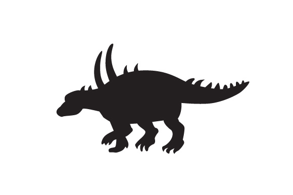 Download Free Dinosaur Silhouette Acanthopholis Svg Cut File By Creative for Cricut Explore, Silhouette and other cutting machines.