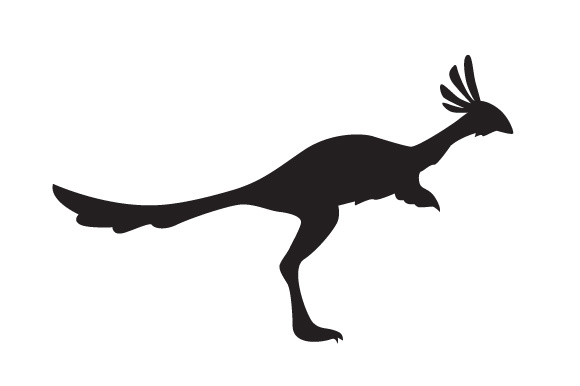 Download Free Dinosaur Silhouette Alvarezsauridea Svg Cut File By Creative for Cricut Explore, Silhouette and other cutting machines.