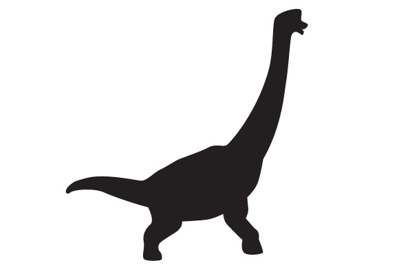 Dinosaur Silhouette - Brachiosaurus Dinosaurs Craft Cut File By Creative Fabrica Crafts