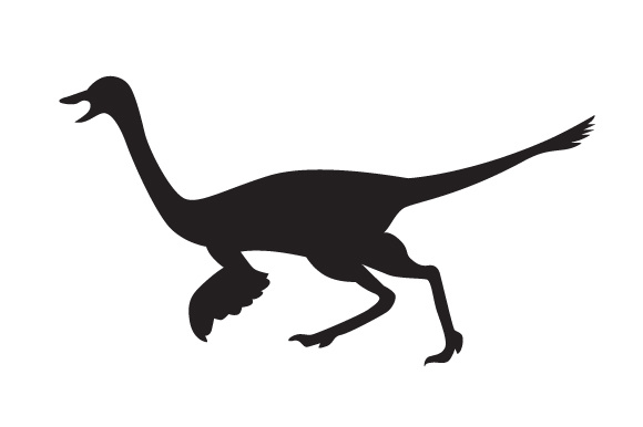 Download Free Dinosaur Silhouette Gallimimus Svg Cut File By Creative for Cricut Explore, Silhouette and other cutting machines.