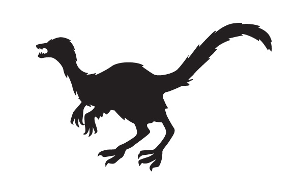 Download Free Dinosaur Silhouette Sinosauropteryx Svg Cut File By Creative for Cricut Explore, Silhouette and other cutting machines.