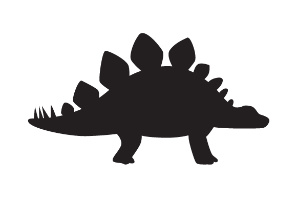 Download Free Dinosaur Silhouette Stegosaurus Svg Cut File By Creative Fabrica for Cricut Explore, Silhouette and other cutting machines.