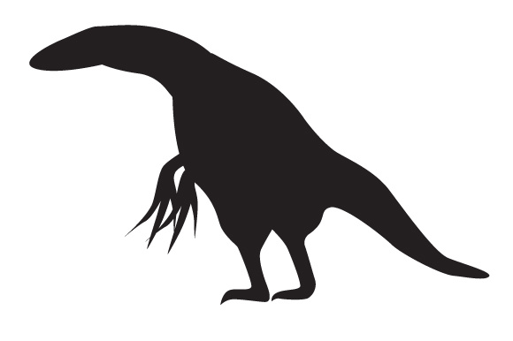Download Free Dinosaur Silhouette Therizinosaurus Svg Cut File By Creative for Cricut Explore, Silhouette and other cutting machines.