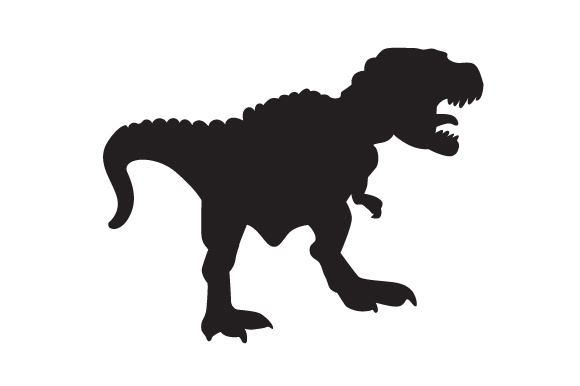 Download Free Dinosaur Silhouette Tyrannoshaurus Svg Cut File By Creative for Cricut Explore, Silhouette and other cutting machines.