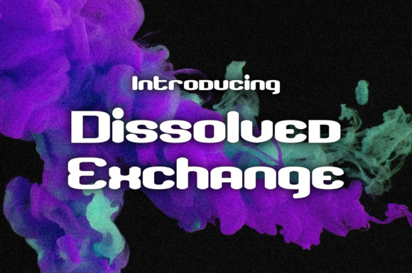 Print on Demand: Dissolved Exchange Sans Serif Font By Chequered Ink