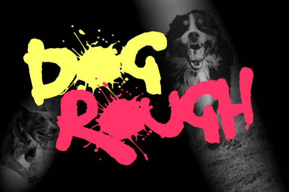 Print on Demand: Dog Rough Decorative Font By Chequered Ink