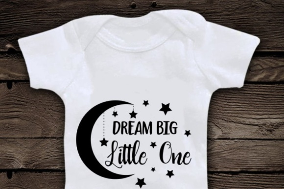 Download Free Dream Big Little One Svg Quote Graphic By Blackcatsmedia for Cricut Explore, Silhouette and other cutting machines.