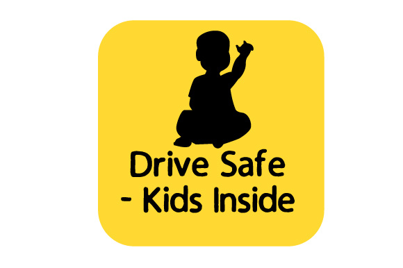 Drive Safe - Kids Inside Family Car Craft Cut File By Creative Fabrica Crafts