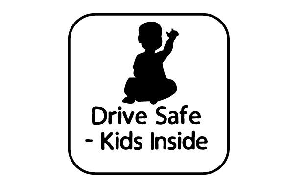 Drive Safe - Kids Inside Family Car Craft Cut File By Creative Fabrica Crafts - Image 2
