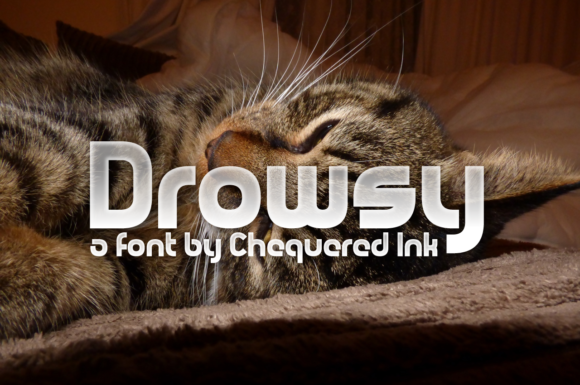 Print on Demand: Drowsy Display Font By Chequered Ink
