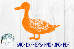 Download Free Duck Mandala Bird Animal Ducks Graphic By Wispywillowdesigns for Cricut Explore, Silhouette and other cutting machines.