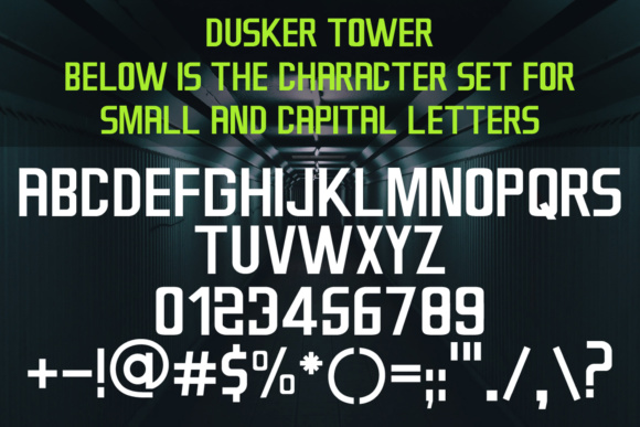 Print on Demand: Dusker Tower Sans Serif Font By Laks Mi