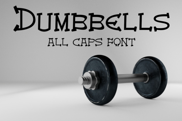 Print on Demand: EP Dumbbells Display Font By Emily Penley Fonts