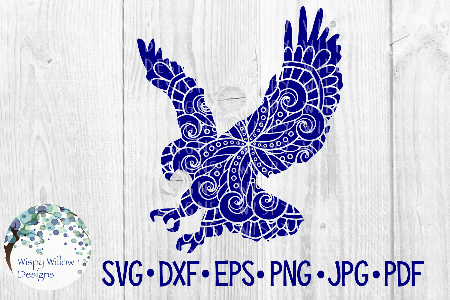 Download Free Eagle Zentangle Graphic By Wispywillowdesigns Creative Fabrica for Cricut Explore, Silhouette and other cutting machines.