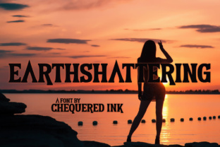 Print on Demand: Earthshattering Serif Font By Chequered Ink