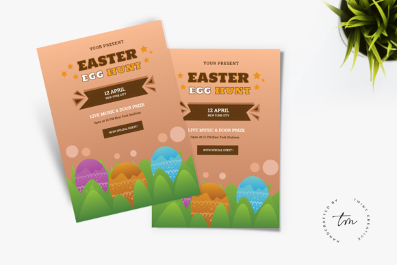Easter Hunt Flyer Grafik Druck-Templates von TMint