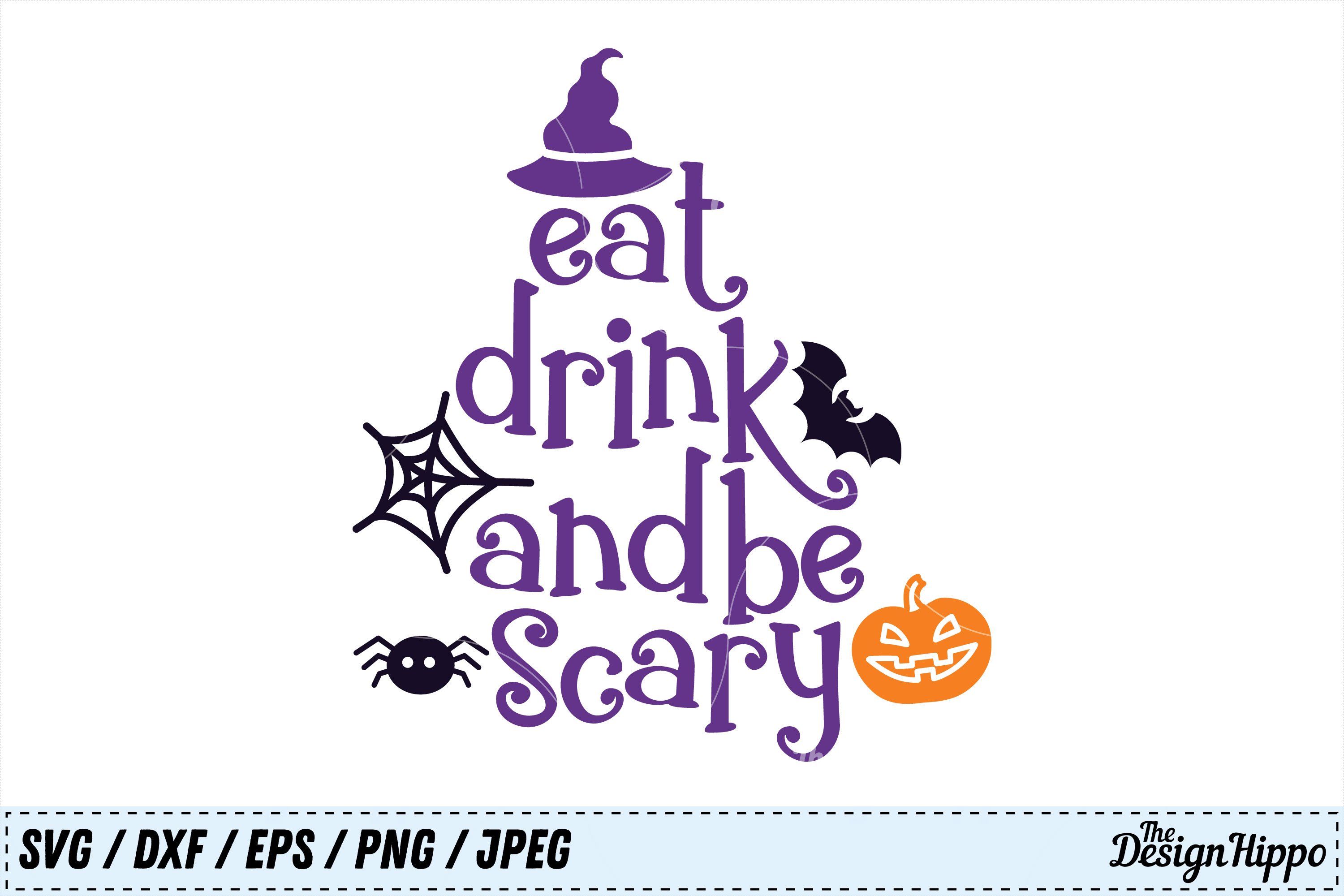 Download Free Eat Drink And Be Scary Svg Graphic By Thedesignhippo Creative for Cricut Explore, Silhouette and other cutting machines.