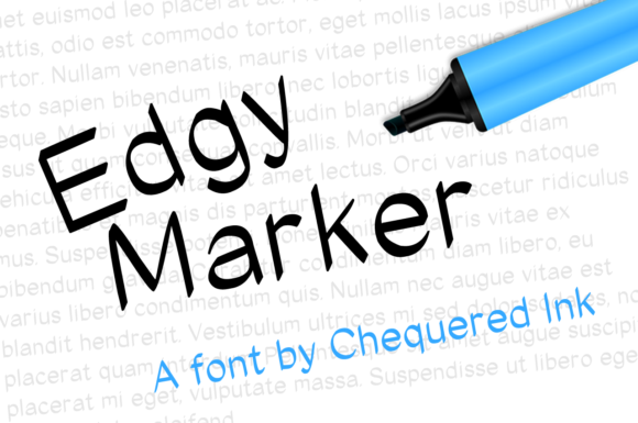 Print on Demand: Edgy Marker Script & Handwritten Font By Chequered Ink