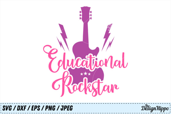 Download Free Educational Rockstar Graphic By Thedesignhippo Creative Fabrica for Cricut Explore, Silhouette and other cutting machines.