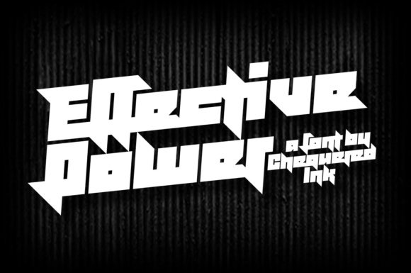 Print on Demand: Effective Power Display Font By Chequered Ink